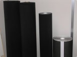 Velours - without adhesive - width 300mm - black - 25m